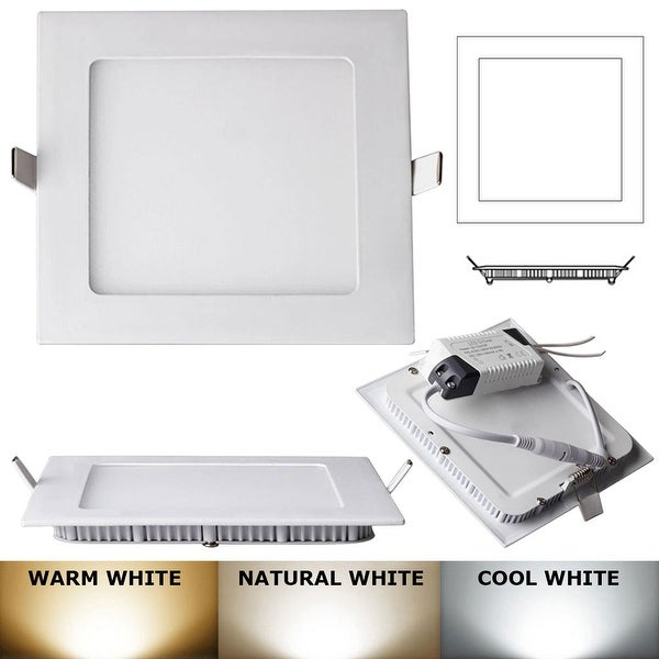 18W -Square LED Recessed Light Ceiling Bulb Lamp Natural white 4000k-4500K Dimmable