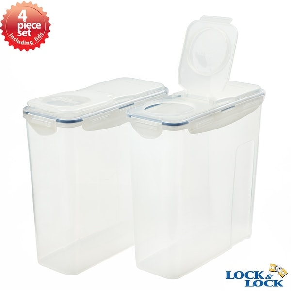 Lock&Lock 4 Piece Plastic Cereal Storage Container Set
