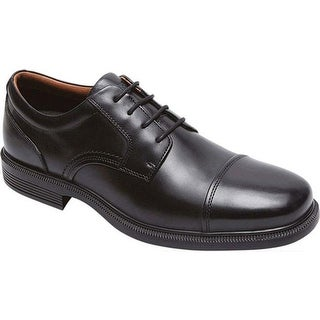 Rockport Men's Dressports Luxe Cap Toe Oxford Black Leather