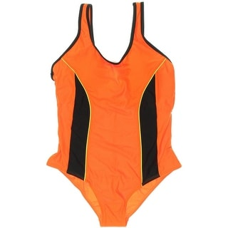 ReliBeauty Womens Solid Pull-On One-Piece Swimsuit - 48