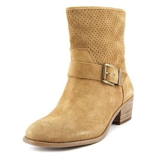 Sole Society SOLA Apron Toe Suede Boot