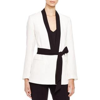 Vince Camuto Womens Blazer Contrast Trim Kimono