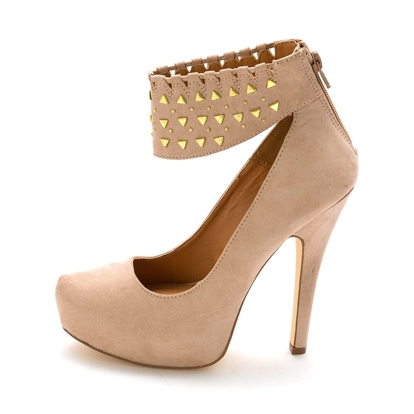 24e1618e9651 Shop ShoeDazzle Womens Sakina Closed Toe Ankle Strap Platform Pumps ...