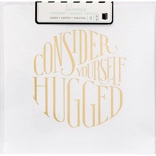"Heidi Swapp Square Cards 5""X5"" 4/Pkg-Consider Yourself Hugged"