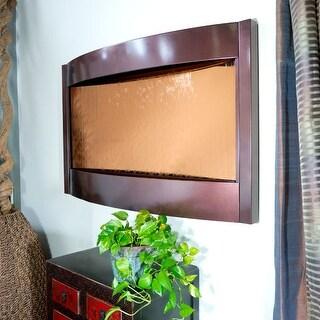 Contempo Solare Wall Fountain Bronze Mirror & Dark Copper