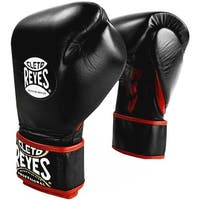 Cleto Reyes Lace Up Hook and Loop Hybrid Boxing Gloves - Black