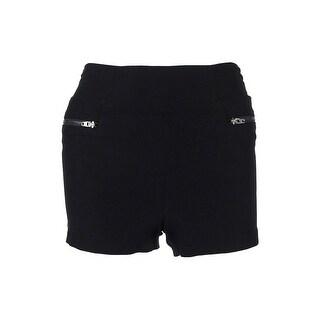 Material Girl Juniors' Solid Zip Detail Shorts