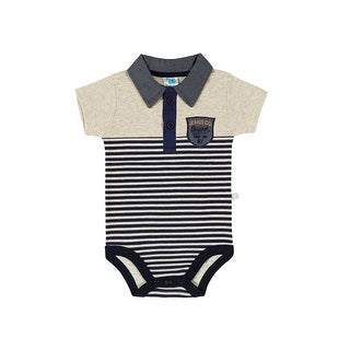 Baby Boy Bodysuit Infant Striped Polo Style Pulla Bulla Sizes 3-12 Months