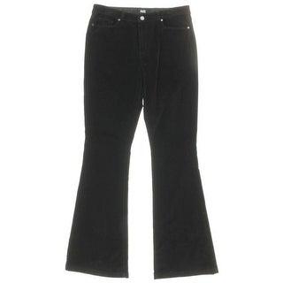 Paige Womens Velvet High Waist Flare Jeans