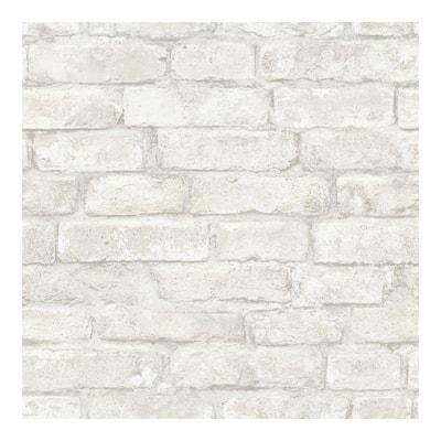 White Denver Brick Peel & Stick Wallpaper - 198in x 20.5in x 0.025in