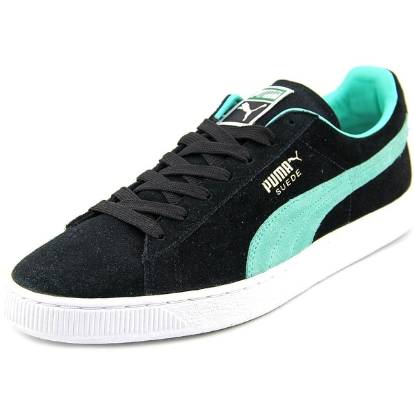 Puma Suede Classic + Men Round Toe Suede Black Sneakers