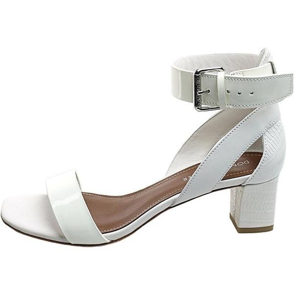 Donald J Pliner Womens Farah Leather Open Toe Casual Ankle Strap Sandals
