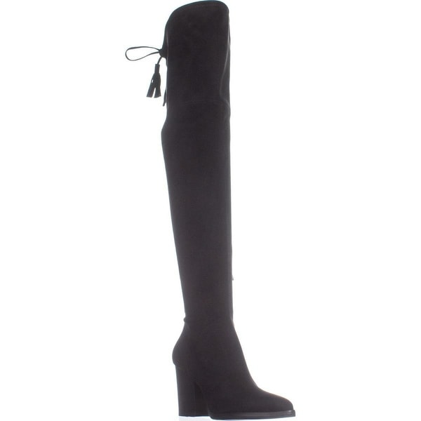 Marc Fisher Alinda Over the Knee Boots, Black Fabric - 6.5 us