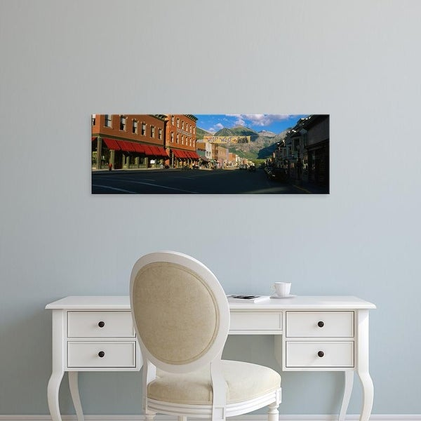 Easy Art Prints Panoramic Images's 'Street through a town, Telluride, Colorado, USA' Premium Canvas Art