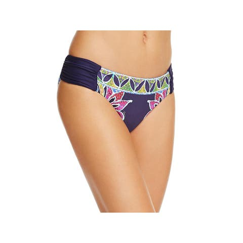 Trina Turk Womens Lotus Beach Reversible Hipster Swim Bottom Separates