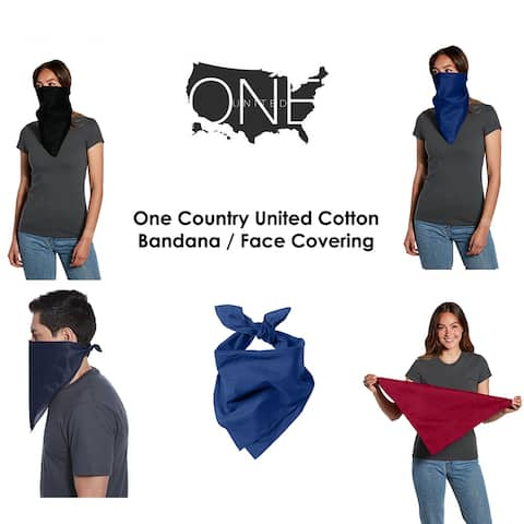 One Country United Cotton Bandana/Face Covering