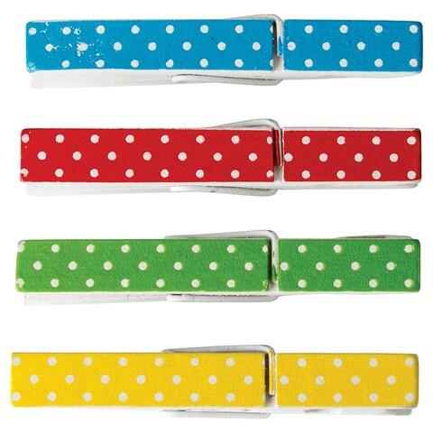 Polka Dot Clothespins