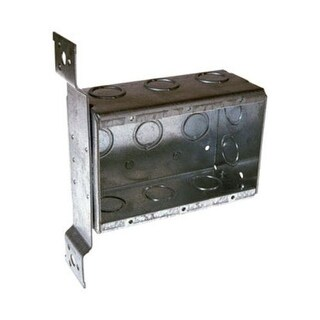 Raco 686 Switch Box With Flush Mount Bracket, 3 Gang