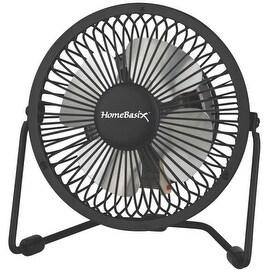 """Homebasix CZHV4RSB-BK 1-Speed Mini Fan, Black, 4"""""""