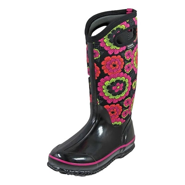Bogs Outdoor Boots Womens Classic Pansies Rubber Waterproof