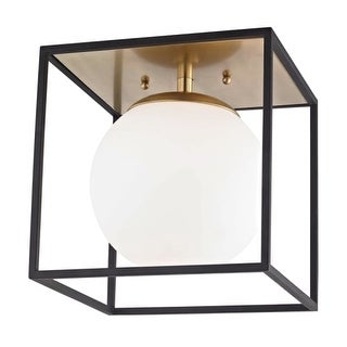 "Mitzi H141501L Aira Single Light 14"" Wide Semi-Flush Globe Ceiling Fixture with"