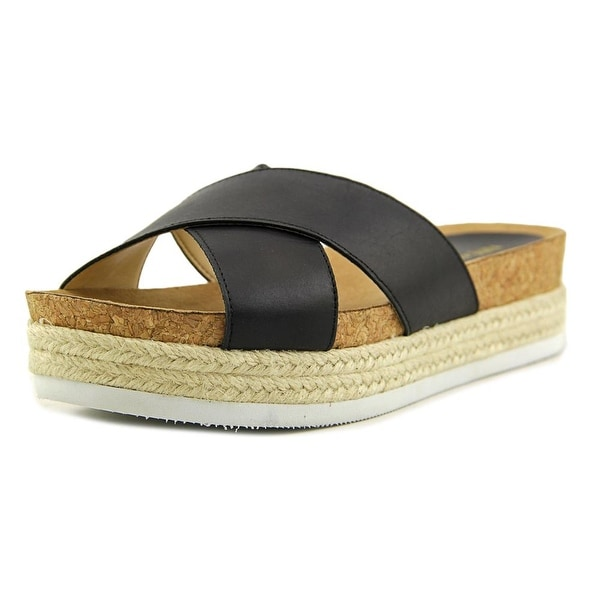 Nine West Amyas Open Toe Leather Slides Sandal