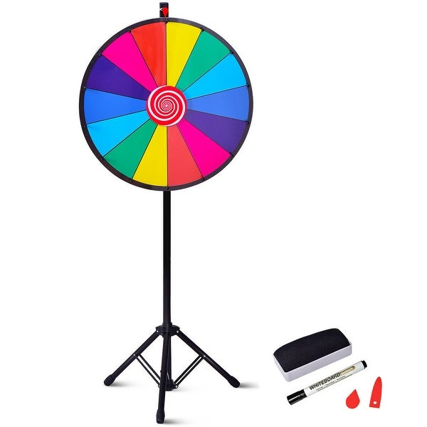 15 Tabletop 10 Slot Color Prize Wheel of Fortune Spinning