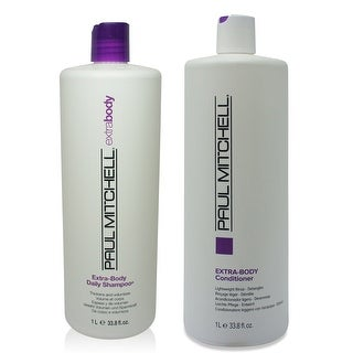 Paul Mitchell Extra Body Daily Shampoo & Daily Conditioner 33.8 Oz Combo Pack