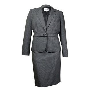 Le Suit Women's Quebec Woven Peplum Skirt Suit