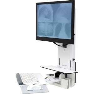 """Ergotron 61-080-062 Styleview 24"""" Sit-Stand Vertical Lift For Patient Room"""