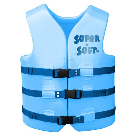 U.S. Coast Guard Approved Adult Vinyl Vest - Marina Blue