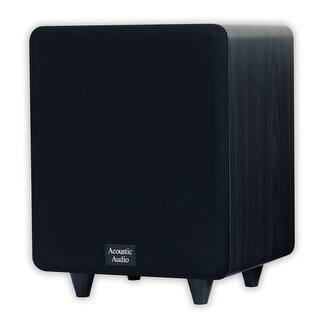 """Acoustic Audio CSPS8-B Home Theater 8"""" Powered Subwoofer Black Front Firing Sub