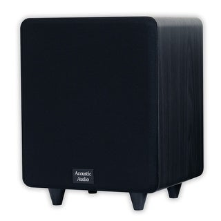 "Acoustic Audio CSPS8-B Home Theater Powered 8"" Subwoofer Black Front Firing Sub"