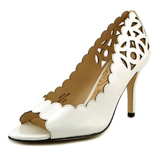 J. Renee Bailee Women Open-Toe Synthetic White Heels