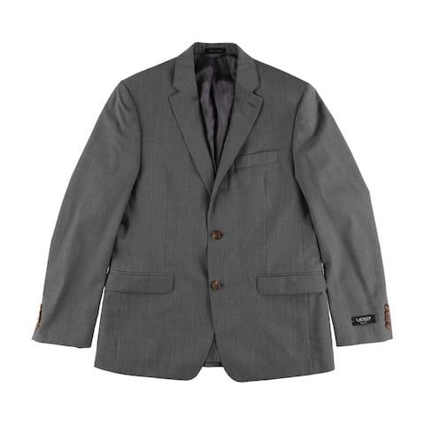 Ralph Lauren Mens Striped Two Button Blazer Jacket