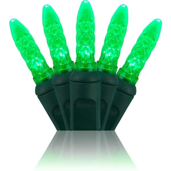 Wintergreen Lighting 20296 70 Bulb M5 Green LED Christmas Lights - N/A