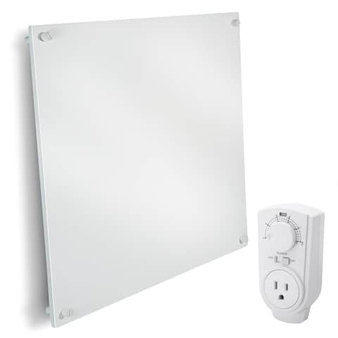 EconoHome Wall Mount Space Heater Panel - with Thermostat - 400 Watt - N/A