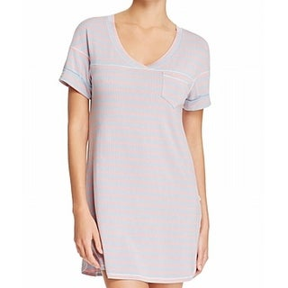 Honeydew NEW Blue Women's Size Small S Rib Pink Stripe Sleepshirt