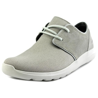 Crocs Kinsale 2-Eye Shoe Men Round Toe Canvas Gray Oxford