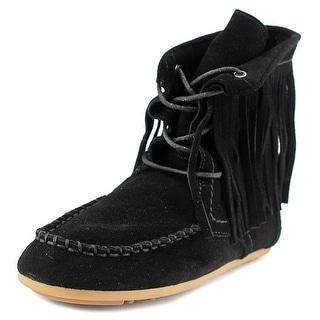 Polo Ralph Lauren Mila fringe Round Toe Leather Bootie