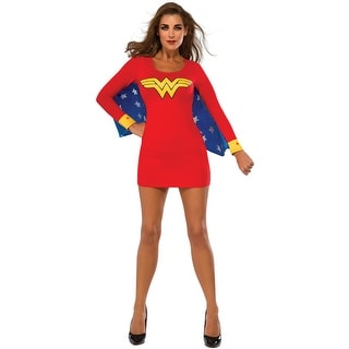 Rubies Wonder Woman Cape Dress Adult Costume - Red