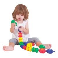 Childcraft Toddler Manipulatives Sensory Snap Beads, Set of 16