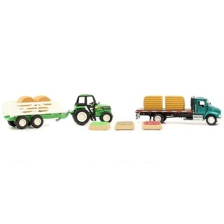 M&F Western Toy Kids Play Set Flatbed Tractor Green 50810