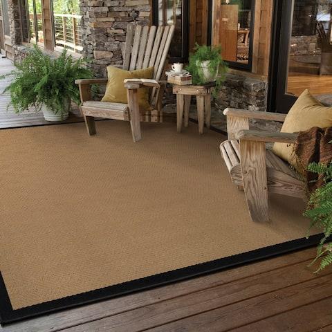 Carbon Loft Addis Borders Indoor/ Outdoor Area Rug