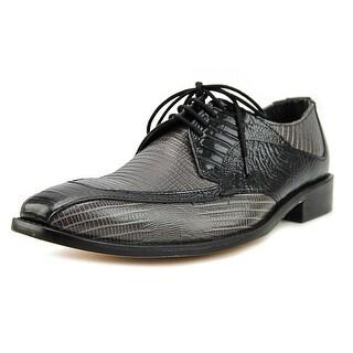 Stacy Adams Genoa Men Square Toe Leather Black Oxford