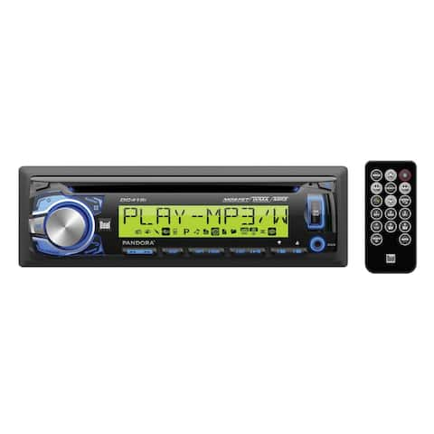 "Dual MP3/WMA CD Receiver w/Direct USB for iPod/iPhone Large 3.7"" Wide 10 Character LCD"