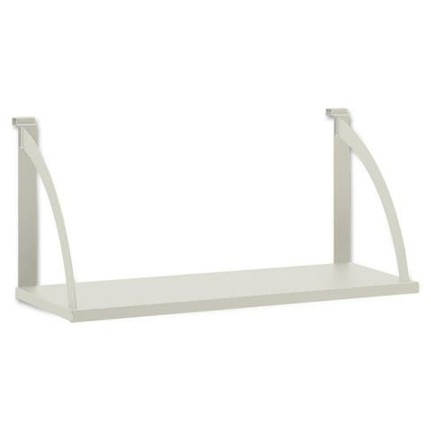 "Shelf, f/Partition, Steel, 30""x12-3/4""x14-1/2"", Gray"