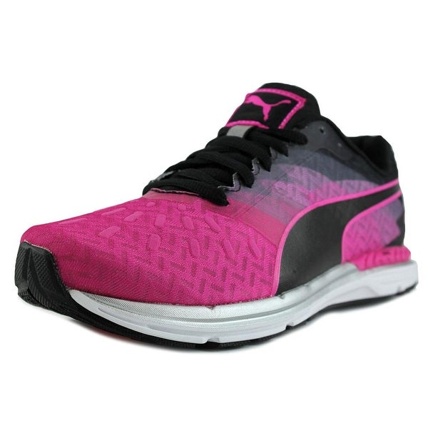 e6016c4f6d77 Shop Puma Speed 300 Ignite Women Pink Glo-Black Sneakers Shoes ...