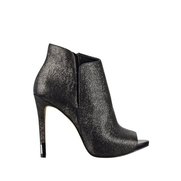 GUESS Womens Adara Peep Toe Ankle Fashion Boots