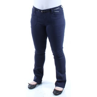 BEBOP $26 Womens New 1226 Navy Flare Casual Pants Juniors 1 B+B